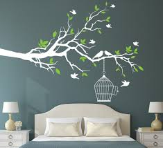aliexpress com buy tree branch with bird cage wall art sticker