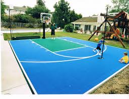 image of backyard basketball court dimensions landscaping plans