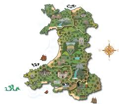 Map Of Wales Land Of Legends