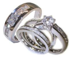 his and wedding ring set his 4 wedding ring set white gold ep sterling womens 5