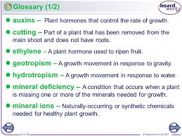 boardworks gcse additional science biology plant growth ppt