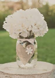 Rustic Mason Jar Centerpieces For Weddings by Burlap Wedding Mason Jar Centerpiece Glass Jars Wedding