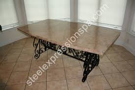 dining table bases for marble tops furniture dining tables metal legs table bases leg design ideas