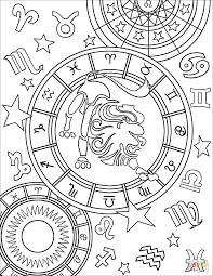 zodiac color leo zodiac sign coloring page free printable coloring pages