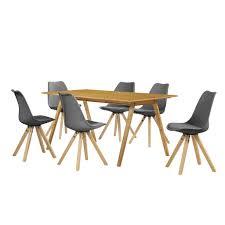Esszimmergruppe Nussbaum En Casa Esstisch Eiche Antik Mit 6 Stühlen Real