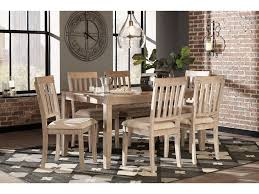 ashley dining table and chairs signature design by ashley dining room table set 7 cn on sale at