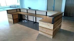 Wood Reception Desk Diy Reception Desk Pallet Reception Desk Diy Wooden Reception Desk