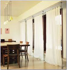 ceiling curtain rod room divider curtain home decorating ideas