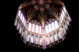 octagon stained glass window ely cathedral england