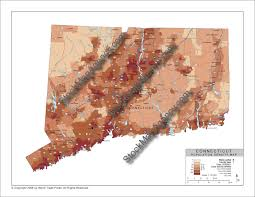Population Density Map Stockmapagency Com Population Density Map Of Connecticut With