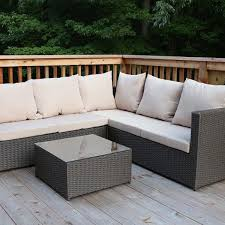 Patio Chair With Ottoman Outdoor Rattan Sectional Sofa Set Outdoor Patio Furniture Fully