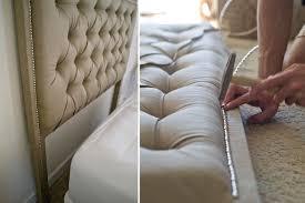home design diy upholstered headboard nailhead cottage home bar