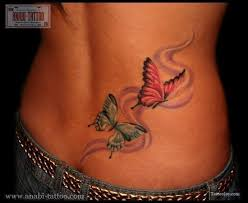 butterfly designs on back only tattoos