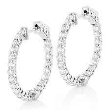 inside out diamond hoop earrings diamond hoops 14k gold inside out diamond hoop earrings for women