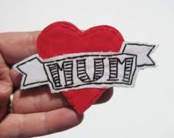 mom heart tattoo etsy