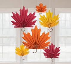 paper decorations maple leaf paper fan decorations 2 order