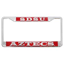 sdsu alumni license plate frame shopaztecs sdsu aztecs license plate frame