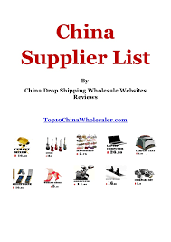 china drop shipping suppliers and wholesale websites list