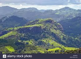 Rugged Landscape Rugged Landscape Near Man Ivory Coast West Africa Stock Photo