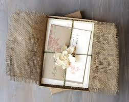 wedding invitations box boxed wedding invitation boho rustic box wedding invitations