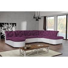 canapé cuir prune canapé clac d angle panoramique prune pu blanc sofa divan achat