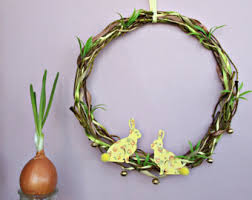 Easter Decorations Ie by Easter Bunny Wreath Etsy