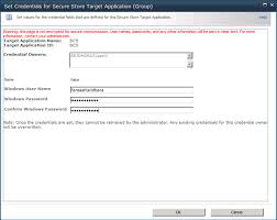 setting up bcs with secure store application impersonation