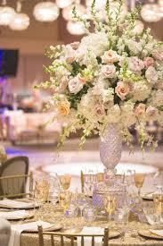 Crystal Vases For Centerpieces Reception Décor Photos Lush Pastel Centerpiece At Synagogue