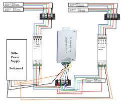 12 Volt Led Lighting Strips by Led Strip Multiple Led U0027s One Controller Diagram Included