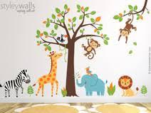 dschungel kinderzimmer wandtattoo dschungel 104 individuelle produkte aus der kategorie
