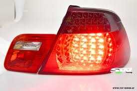 red bmw e46 led taillights 3er bmw e46 cabrio convertable 00 05 red smoke