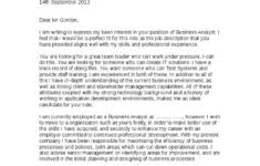 business analyst cover letter sample with no experience