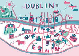 Map Of Dublin Ireland Amazing Illustrated Maps Of Dublin Wanderarti