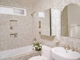 hidden spaces in your small bathroom hgtv balance your space neutral mosaic tile bathroom