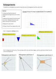 ks3 differentiated enlargement worksheets by mscookson