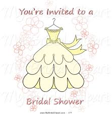 bridal shower clipart for invitations collection
