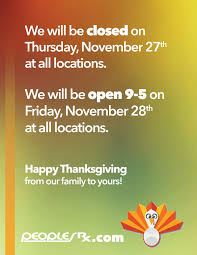 thanksgiving black friday hours peoples rx s favorite