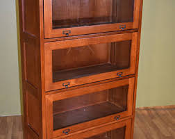 Mission Style Bookcase Barrister Bookcase Etsy