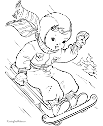 christmas scene coloring pages
