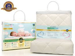 amazon com bamboo crib mattress pad waterproof cover u0026 toddler