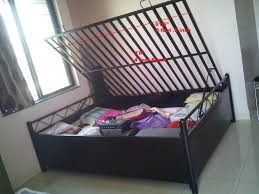 queen size metal bed with storage for sale 6 u00271 x 5 u0027 x 2 u00271 5 pune