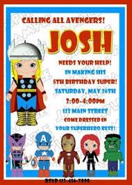 birthday party invitations adorable avengers by tiny prints