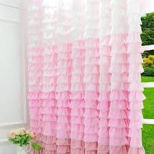 light pink ruffle curtains waterfall ruffle shower curtain pink curtain designs