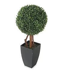 closer2nature artificial 2ft boxwood tree topiary in a