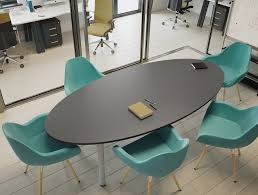 Large Oval Boardroom Table Kito Large D End Boardroom Table With Panel Leg Base In Beech