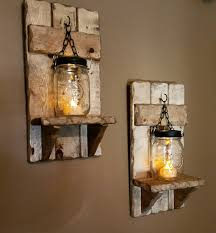 Jar Candle Wall Sconce Mason Jar Candle Holder Rustic Country Decor Sconces