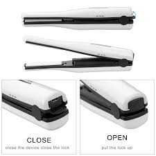 usb rechargeable wireless mini hair straightener fast ceramic