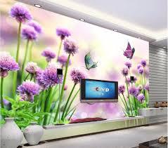 lavender painted walls custom mural 3d photo wallpaper living room hd lavender flowers