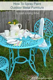 Turquoise Patio Chairs How To Spray Paint Metal Outdoor Furniture To Last A Time