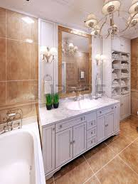bright art deco bathroom interior the spacious bathroom with